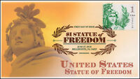 18 141 2018 STATUE OF FREEDOM 1 DOLLAR DIGITAL COLOR POSTMARK FIRST DAY