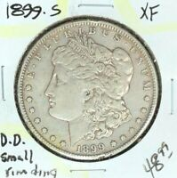 1899-S MORGAN SILVER DOLLAR  EXTRA FINE   SMALL RIM DING  COIN REF D/D