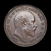 GREAT BRITAIN. EDWARD VII 1902 1/3 FARTHING FOR USE IN MALTA