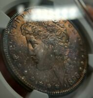 1898-O MORGAN DOLLAR NGC MINT STATE 65 LUSTROUSLY TONED ROSE ORANGE FULL OBV MONSTER