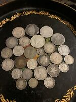 LARGE WORLD SILVER COIN LOT ALL COLLECTABLE NO CULLS WEIGHT