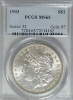 1903 MORGAN DOLLAR PCGS MINT STATE 65 LIGHT TONING  PJ616