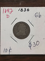 COINS - US - DIMES -  CAPPED BUST - 1836 - G