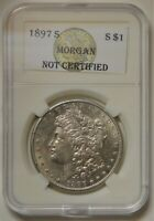 1897 S MORGAN SILVER DOLLAR ABOUT UNCIRCULATED DETAILS HARD DATE TO FIND