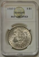 1898 O MORGAN SILVER DOLLAR BU, UNCIRCULATED CONDITION.