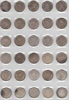 LOT OF 30   CANADA SILVER HALF DOLLAR  50 CENT  COINS 1931