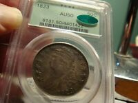 1823 CAPPED BUST HALF _ PCGS AU 50 / CAC _ OGH _ NO PROBLEMS HERE