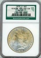 1879 S $1 MORGAN SILVER DOLLAR BINION  MINT STATE 63 NGC