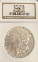 LOOK___1887- NGC MINT STATE 67 U.S. MORGAN SILVER DOLLAR- PLEASE SEE OTHER MORGAN DOLLARS