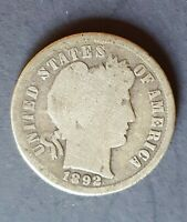 1892 S BARBER DIME SILVER   FIRST YEAR   NO RESERVE   1