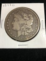 1893-O MORGAN SILVER DOLLAR  CIRCULATED UNCERTIFIED KEY COIN