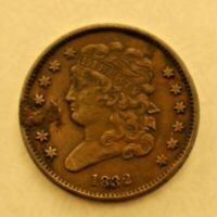 US HALF CENT 1832 VF DETAILS