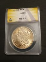 1900 MORGAN SILVER DOLLAR MINT STATE 63