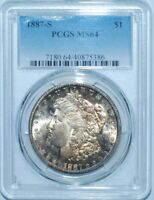 1887 S PCGS MINT STATE 64 MORGAN SILVER DOLLAR