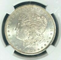 1878-CC MORGAN SILVER DOLLAR  NGC MINT STATE 62 BEAUTIFUL COINREF01-001