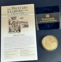 MILITARY LEADERS COINS, COOK ISLANDS, $1 PIEDEFORT, COPPER GOLD PLATED 22CT.