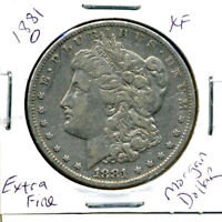 1881 O EXTRA FINE  MORGAN DOLLAR 100 CENT  EXTRA FINE 90  OLD SILVER US$1 COIN 3670