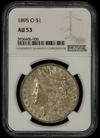 1895-O $1 MORGAN SILVER DOLLAR - SOLID ORIGINAL KEY DATE - NGC AU53 - Z1399