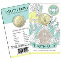 2021 TOOTH FAIRY $2 CARDED UNCIRCULATED COIN
