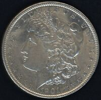 1901-P MORGAN SILVER $  AU CONDITION   A LUSTEROUS BEAUTY  BETTER DATE