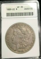 ANACS 1889-CC VF35 KEY DATE MORGAN DOLLAR