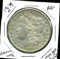1879 O AU MORGAN DOLLAR 100 CENT  ABOUT UNCIRCULATED 90 SILVER US $1 COIN 4471