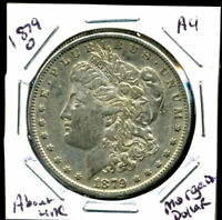 1879 O AU MORGAN DOLLAR 100 CENT  ABOUT UNCIRCULATED 90 SILVER US $1 COIN 4189