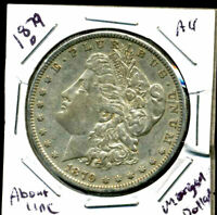 1879 O AU MORGAN DOLLAR 100 CENT  ABOUT UNCIRCULATED 90 SILVER US $1 COIN 3987