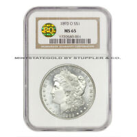 ULTRA  1893-O $1 MORGAN NGC MINT STATE 65 PQ BLAST WHITE NEW ORLEANS SILVER DOLLAR