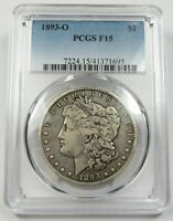 1893-O PCGS F15 SILVER MORGAN DOLLAR $1 US COIN ITEM 27266A