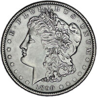 UNITED STATES COIN MORGAN DOLLAR 1890 AUNC ABOUT UNCIRCULATED