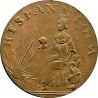 HISPANNIOLA TOKEN DOMINICAN REPUBLIC   FRENCH CONTROL 1795 1