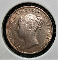 1866 SILVER 3 PENCE BRITISH COIN SHOWING DIE ROTATION & DIE