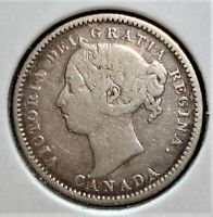 1886 SILVER CANADIAN DIME LARGE