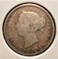 1886 SILVER CANADIAN DIME SMALL