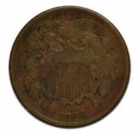 1864 TWO 2 CENT COIN