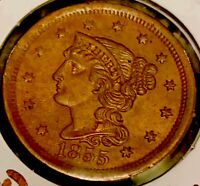 MAKE-A-$950 OFFER 1847 RED BRAIDED HAIR LARGE CENT  BROAD STRIKE 6M