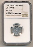 UNITED STATES COIN NICKEL 1873 OPEN 3 TYPE NGC AU ABOUT UNCIRCULATED
