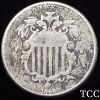 1866 SHIELD NICKEL 5C  ORIGINAL WITH RAYS COIN  EARLY AND   TCC