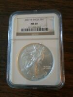 2007 $1 AMERICAN SILVER EAGLE DOLLAR 1OZ NGC MINT STATE 69