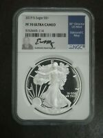 2019 SILVER EAGLE $1 NGC PF 70 ULTRA CAMEO - HAND SIGNED