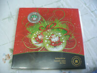 2009  CANADA HOLIDAY GIFT SET   25 CENT  COIN    COLORED QUARTER