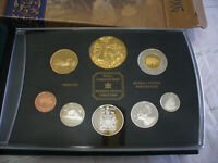 2002  CANADA PROOF SET   TOONIE  LOONIE FIFTY CENT QUARTER NICKEL DIME PENNY