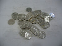 LOT OF 50  1963  CANADA SILVER COINS  DIMES 1  ROLL 10 CENTS  ONE ROLL PER BID