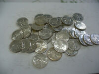 LOT OF 40 1962   CANADA  QUARTERS   SILVER  COINS  25       CENT  PIECES