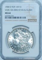 1900 O NGC MINT STATE 64 VAM-15A DDO DOUBLED STARS AND CLASH TOP-100 MORGAN SILVER DOLLAR