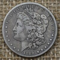 1889-CC $1 VF/EXTRA FINE  MORGAN SILVER DOLLAR CARSON CITY, KEY DATE