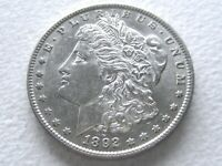 1892-O MORGAN SILVER DOLLAR, CHOICE OFTEN OVERLOOKED DATE - ORIG - 28-N