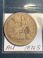 1876 S TRADE DOLLAR AU    CONDITION 100  NATURAL TONING BEAUTIFUL COIN