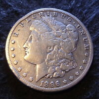 1896-S MORGAN SILVER DOLLAR - SOLID FINE F DETAILS FROM THE SAN FRANCISCO MINT